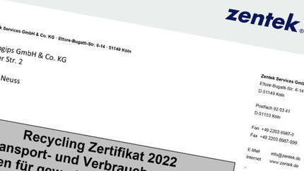 Interseroh Recycling-Zertifikat